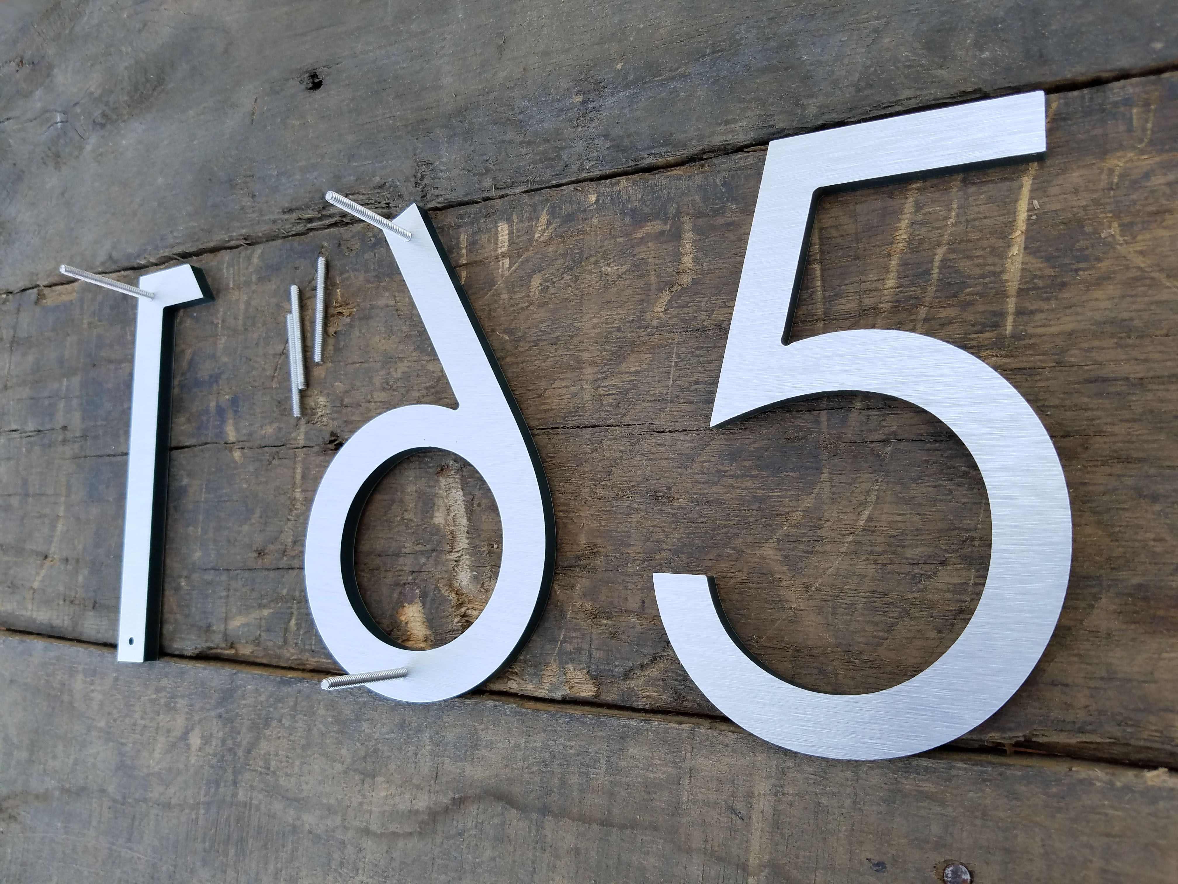 Modern Minimalist House Numbers By Timberartsigns Com Modern House Numbers Black House Numbers Large House Numbers Curb Appeal