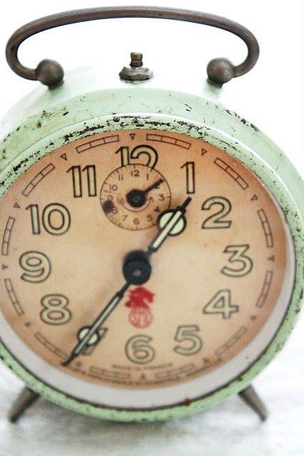 mint green clock