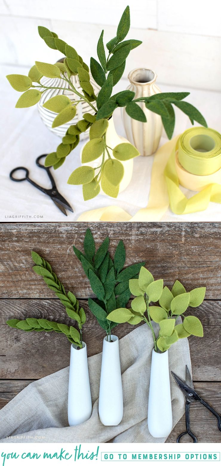 Easy Crafts: How to Make Felt Greenery #feltflowertemplate