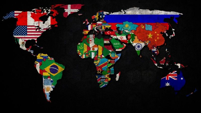World Map and Flags Wallpaper Wide or HD | Digital Art Wallpapers