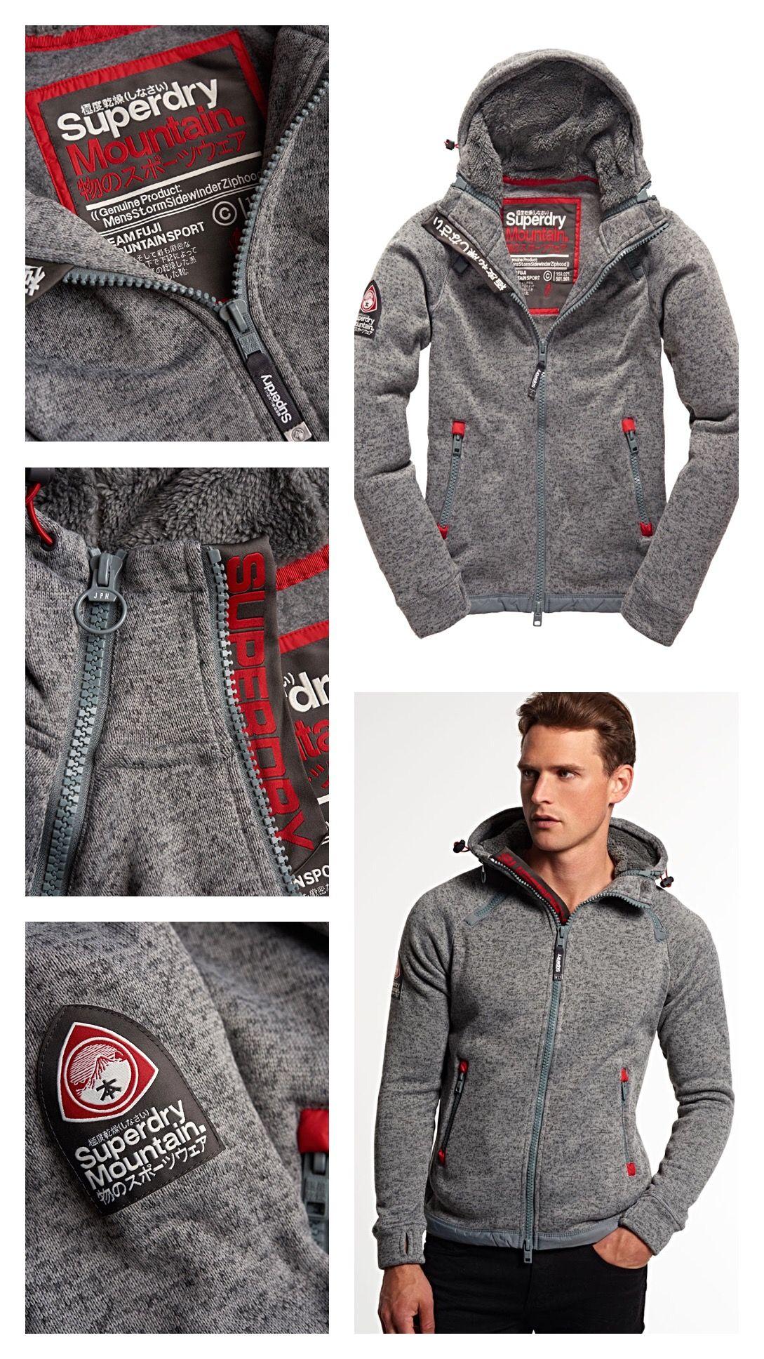 72be14b977ebf SUPERDRY Storm Sideward Zip Hoodie   Men Fashion Styles - Outfits ...