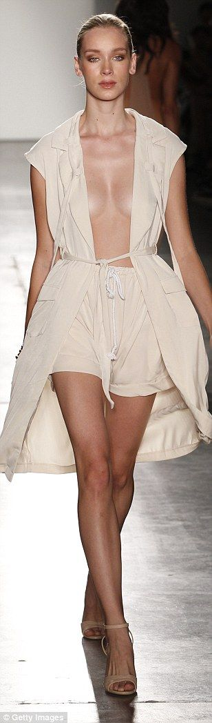 Racier pieces: Short mini skirts, barely there plunging necklines, jackets with no top and...