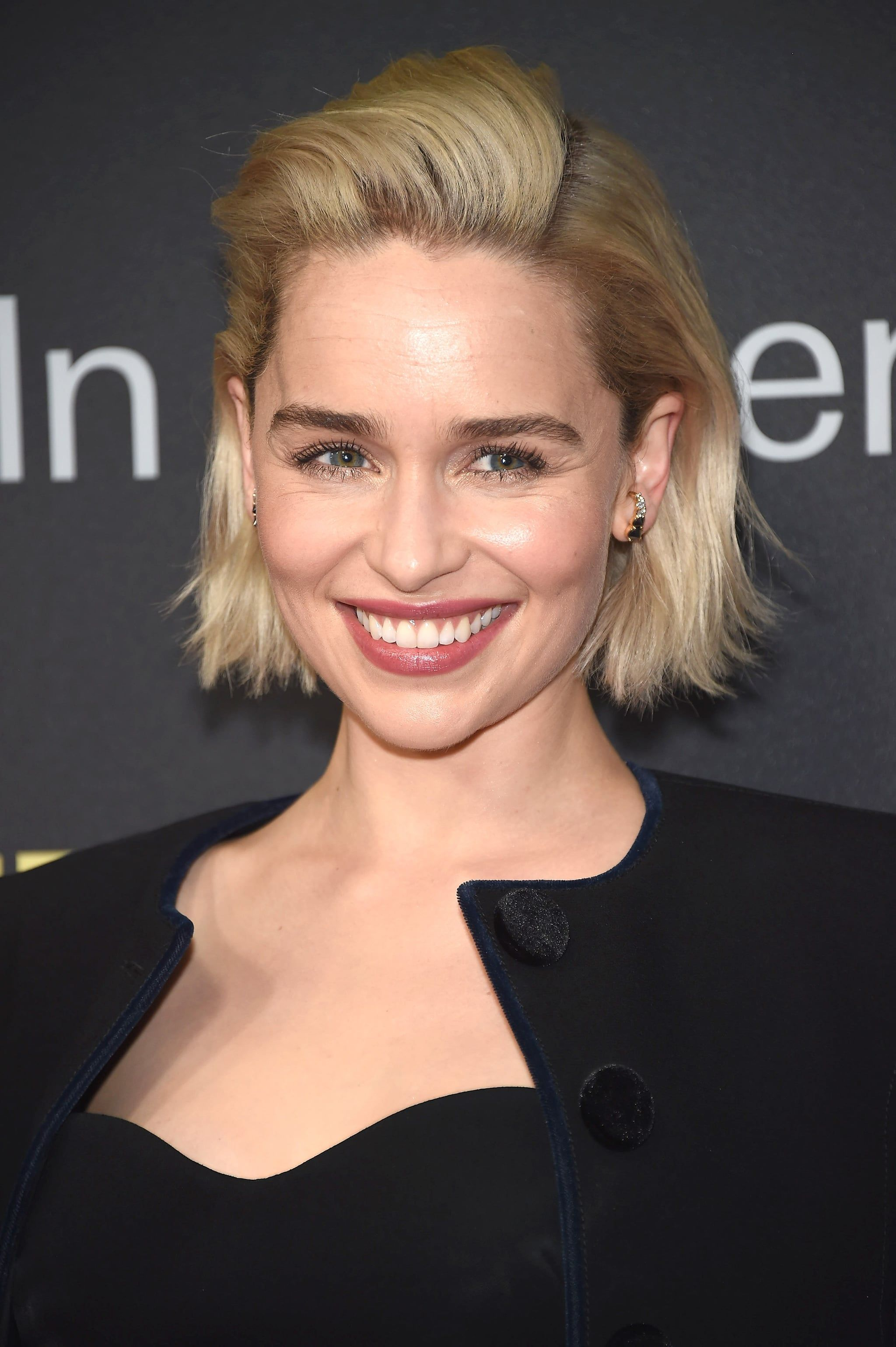 She Gave Her Bob Some Volume While Attending A Gala In New York Hair Styles Short Hair Styles Emilia Clarke Hair