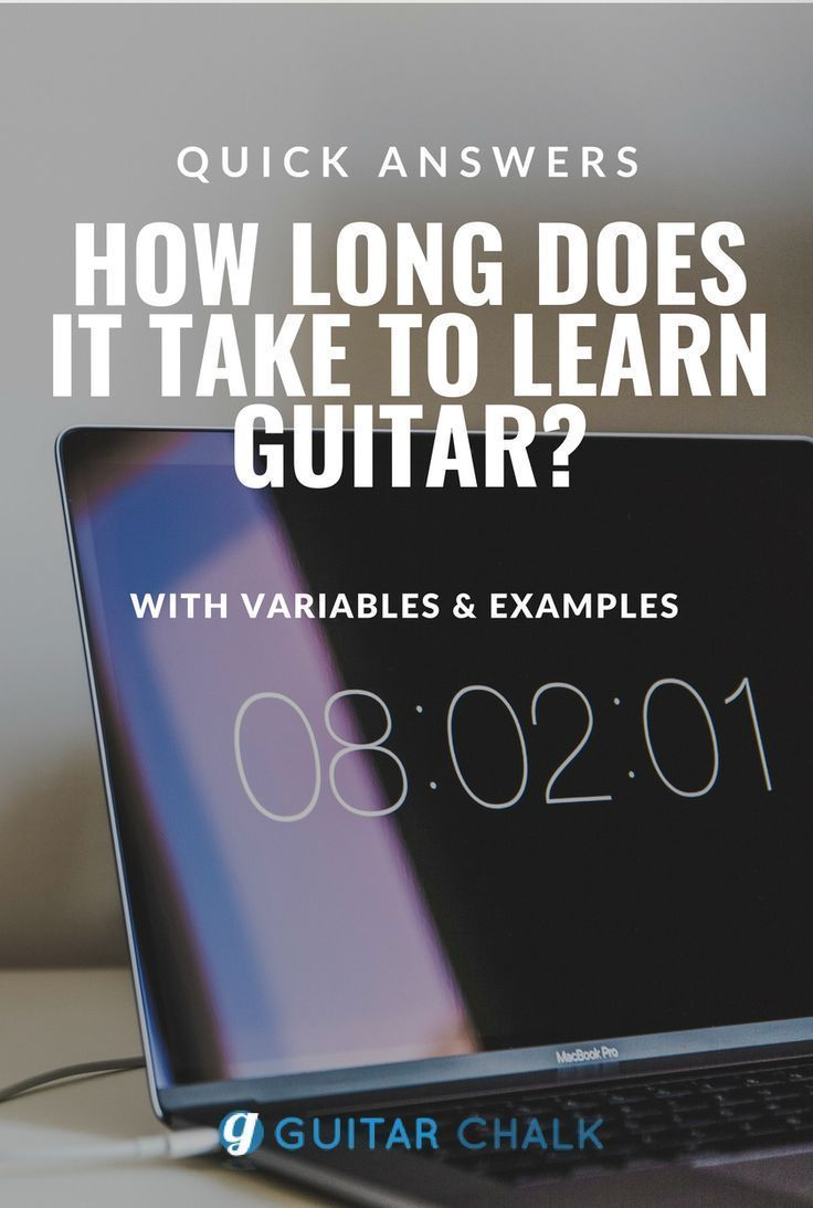 How long does it take to learn guitar? Averages & Examples
