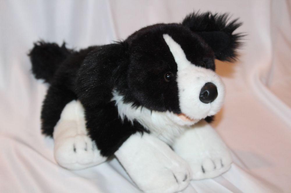 9e696e19edfc Build-A-Bear Border Collie Black White Dog 18