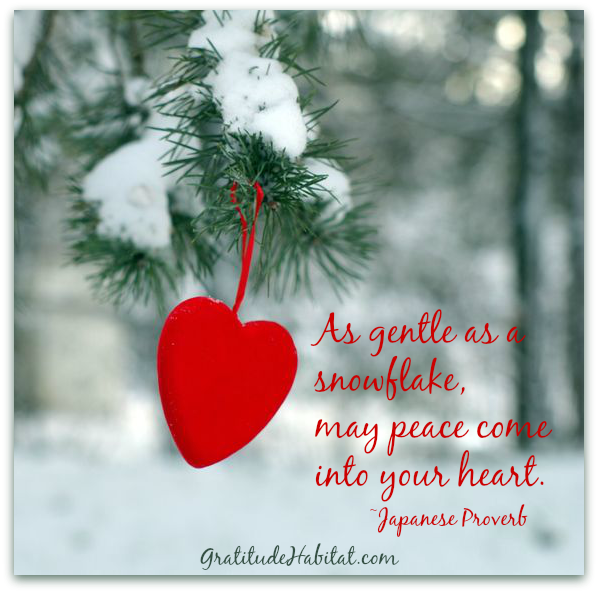 Peace Christmas Quotes.May Peace Come Into Your Heart Www Gratitudehabitat Com