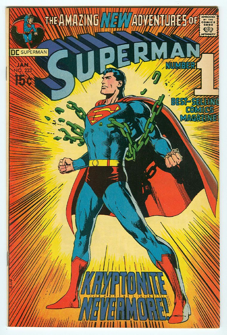 Superman cover illustrated by Neil Adams.