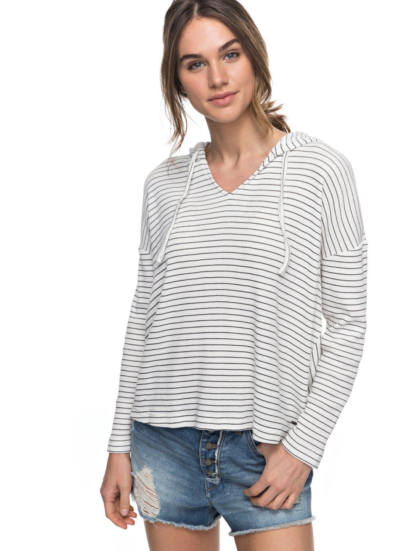 8101d92ddea Roxy Women s Lovely Aside Stripe Shirt (Marshmallow)