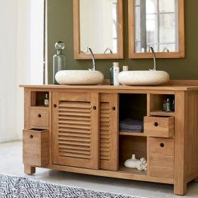 Tikamoon Waschtisch Waschbeckenschrank Badezimmer Unterschrank