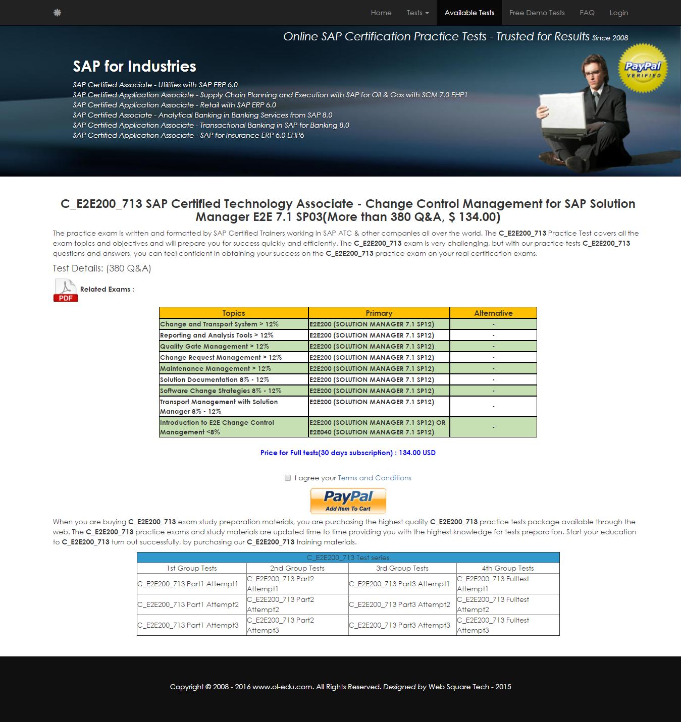 C E2e200 713 Ce2e200713 Sap Certified Technology Associate