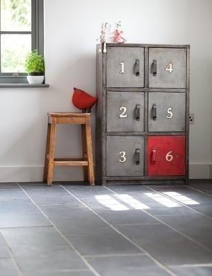 6 Door Industrial Locker Unit from Rose & Grey Hallway