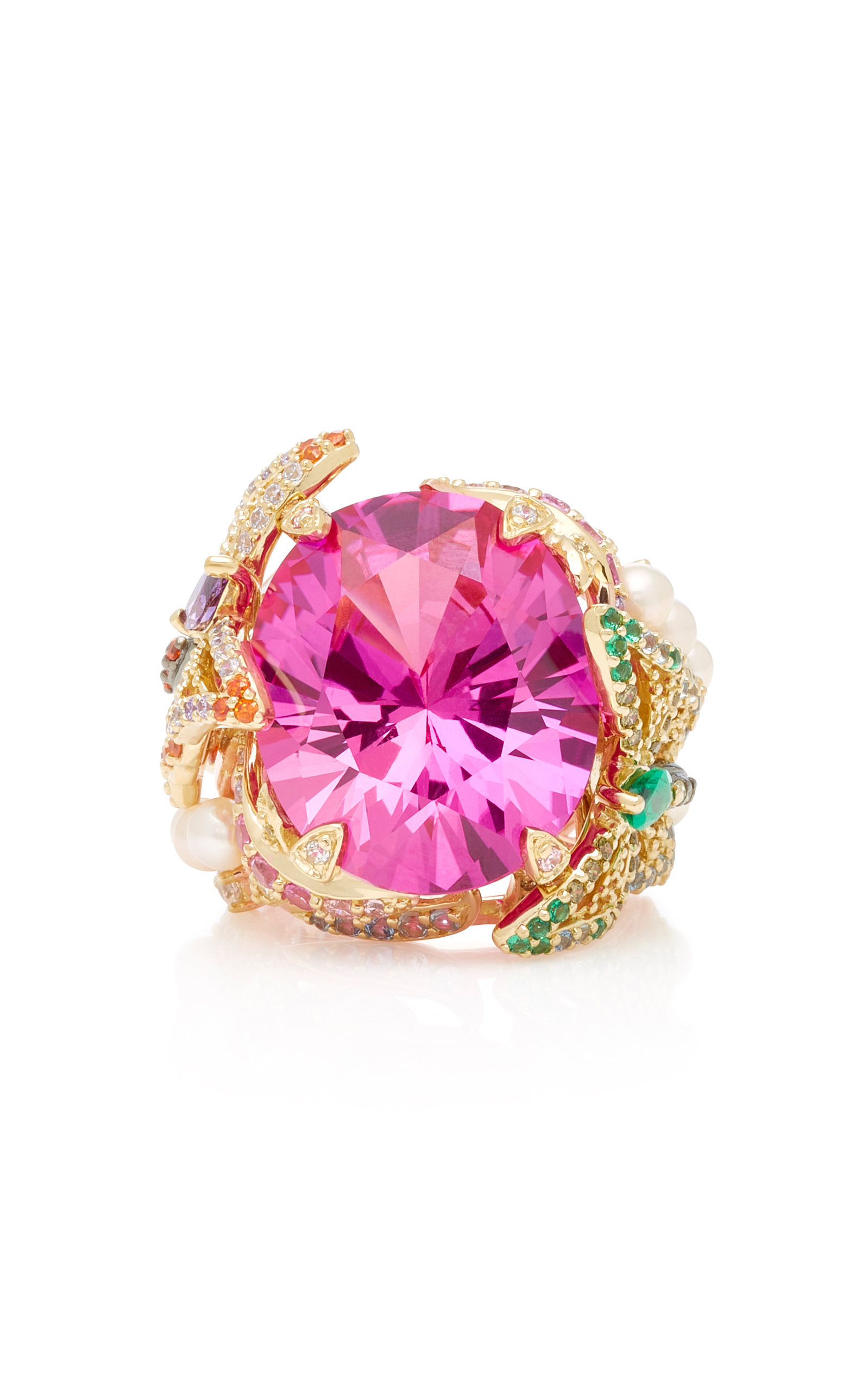 Anabela Chan Rose Swallowtail Pink Sapphire Ring | Color stone ...