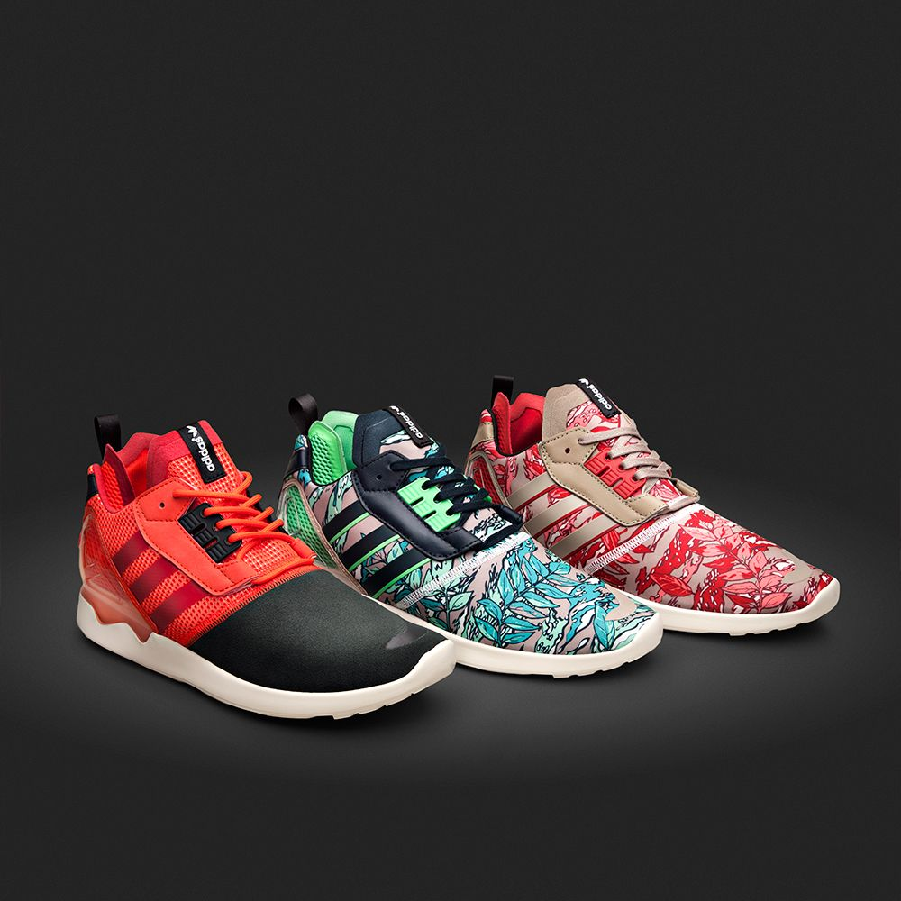 e59f5685e8dc8 The adidas Originals ZX 8000 Boost Trainer available in three new  colour-ways.