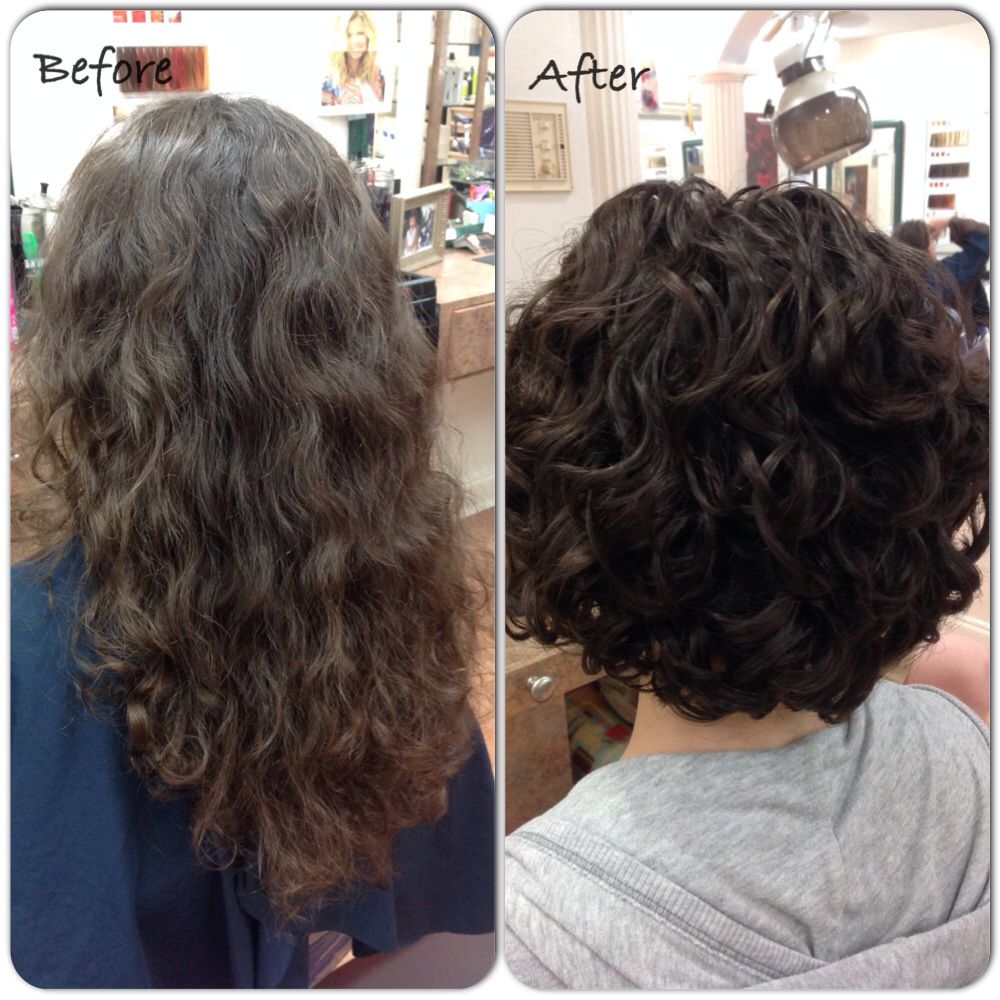 Pin By Carol Bakowicz On Before And After Short Curly Haircuts Short Hair With Layers Curly Hair Styles