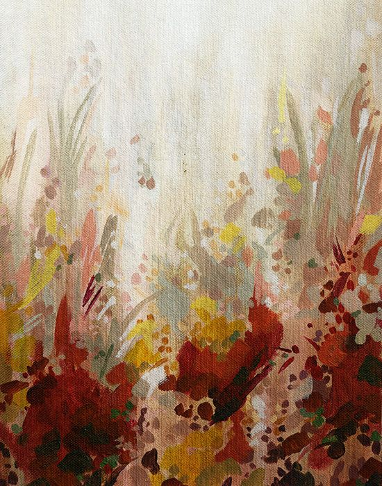 Great Piece In A Maroon And Gold Dining Room Autumn Flower I Fine Art Print Red Gold And Brown By Cortneynorth Fall Wall Art Red Art Print Brown Wall Art
