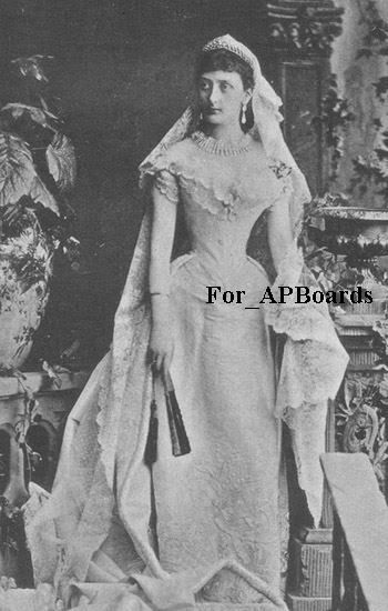 Duke Paul Frederick of Mecklenburg-Schwerin wed his cousin, Princess Marie Windisch-,Graetz, on 5 May 1881