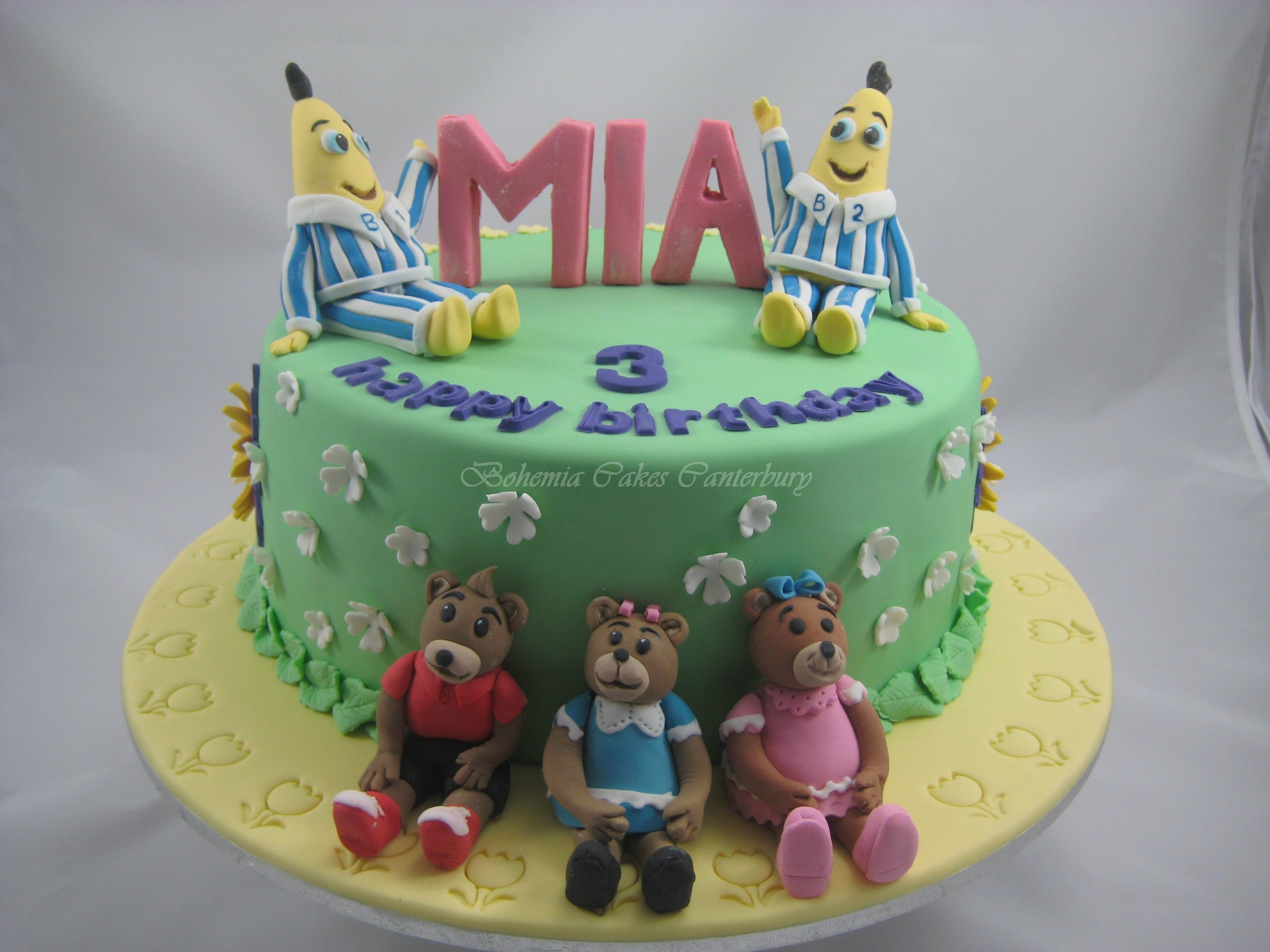 Bananas in pyjamas cake julie 39 s cakes in 2019 birthday - Banana cake decoration ...
