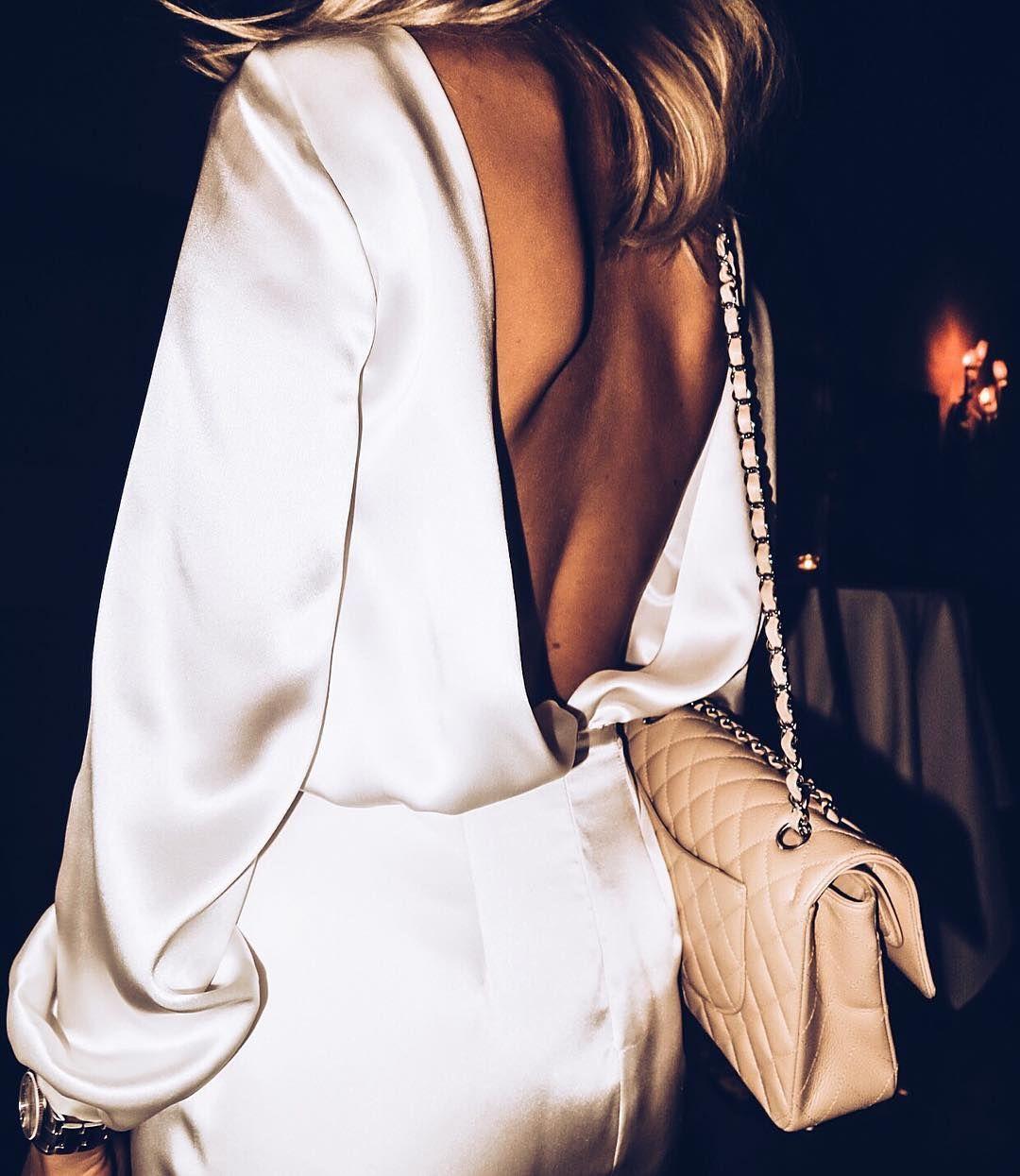 Backless silk jumpsuit #love