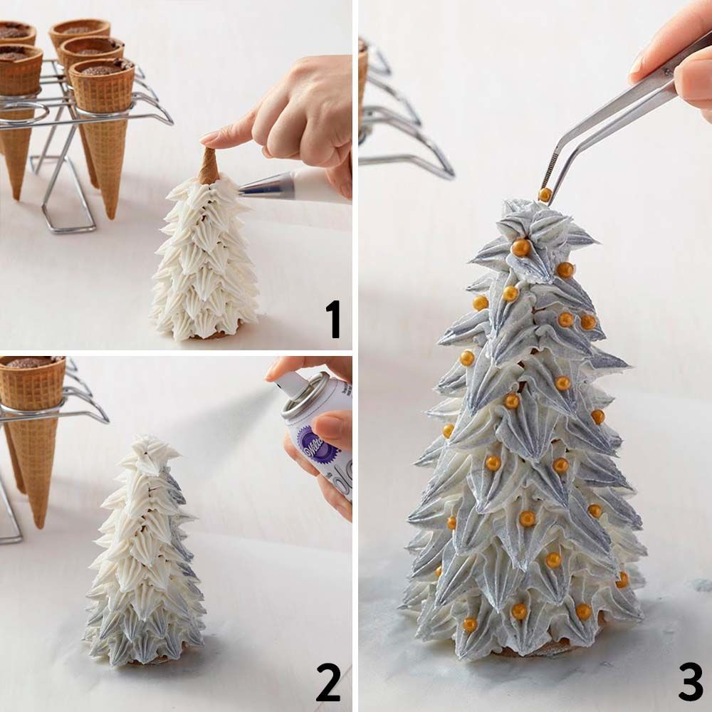 Christmas Tree Color Spray : Silver and gold decorations on every christmas tree
