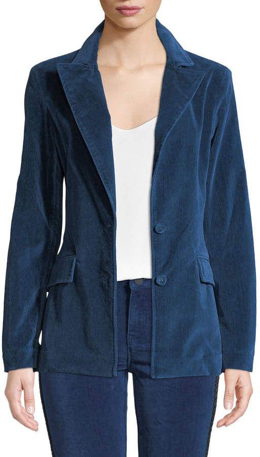 6fa38ef7888e04 Parker Smith Velvet Peak-Lapel Blazer | Products | Blazer, Velvet ...