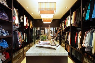The Dressing Room Closet - contemporary - closet - los angeles - Lisa Adams, LA Closet Design