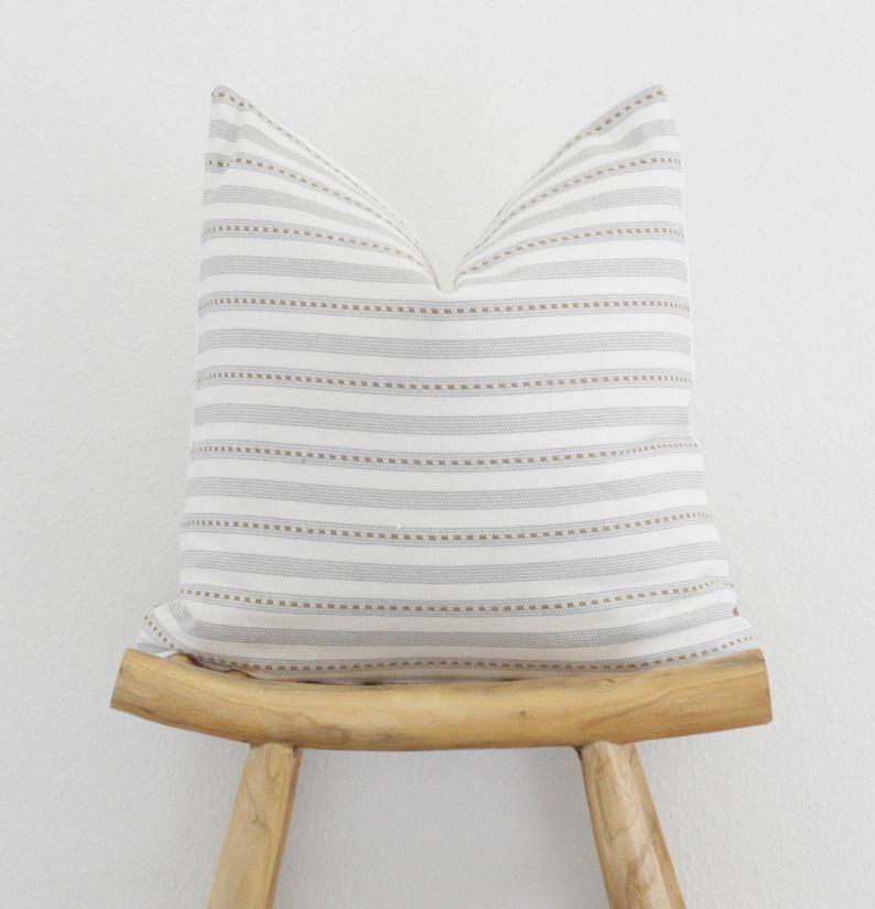 Grey pillow cover 20x20 modern farmhouse throw pillow