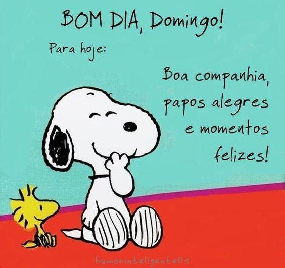 Imagens De Bom Dia Domingo Sunday Snoopy Frases Sunday