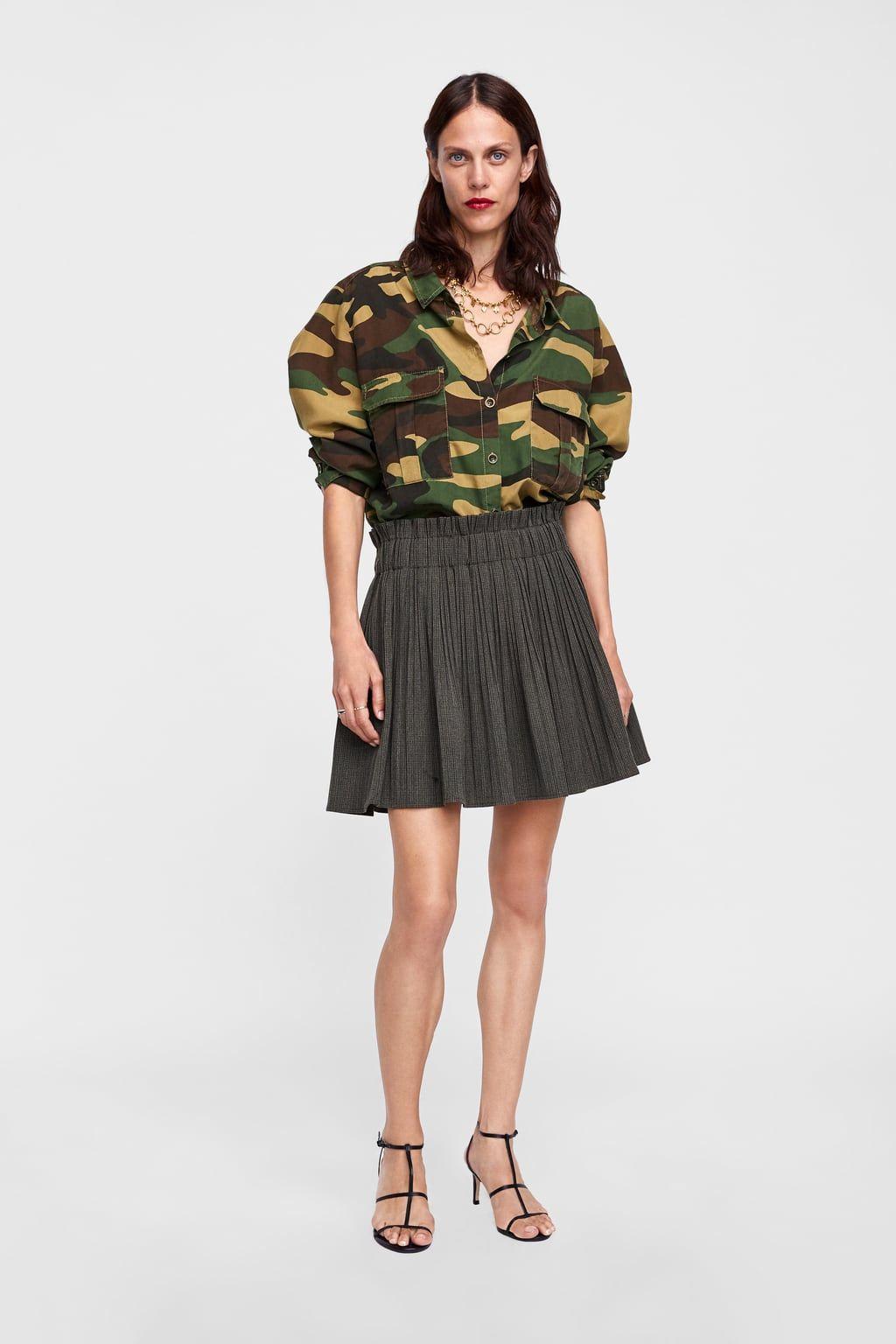 Falda Zara Plisada Women Cuadros Zara Ropa Y Zapatos Fashion ggr0Sw