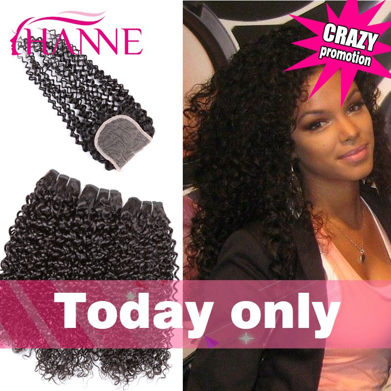 Hair Weft Closure ( Bang) 17A Unprocessed Brazilian Curly Hair With ...