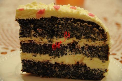 Маковый торт со сливочным кремом из белого шоколада | 4vkusa.ru