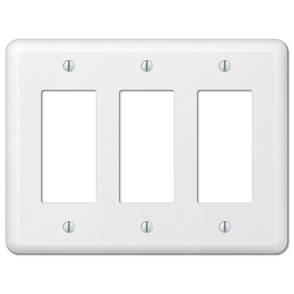 Amerelle Wall Plates New Amerelle Devon 935Rrrw White Triple Gfci Rocker Decora Wall Plate 2018