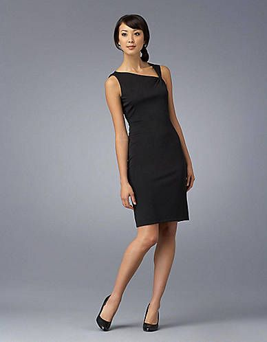 Matte Jersey Ruched Asymmetrical Dress By David Meister
