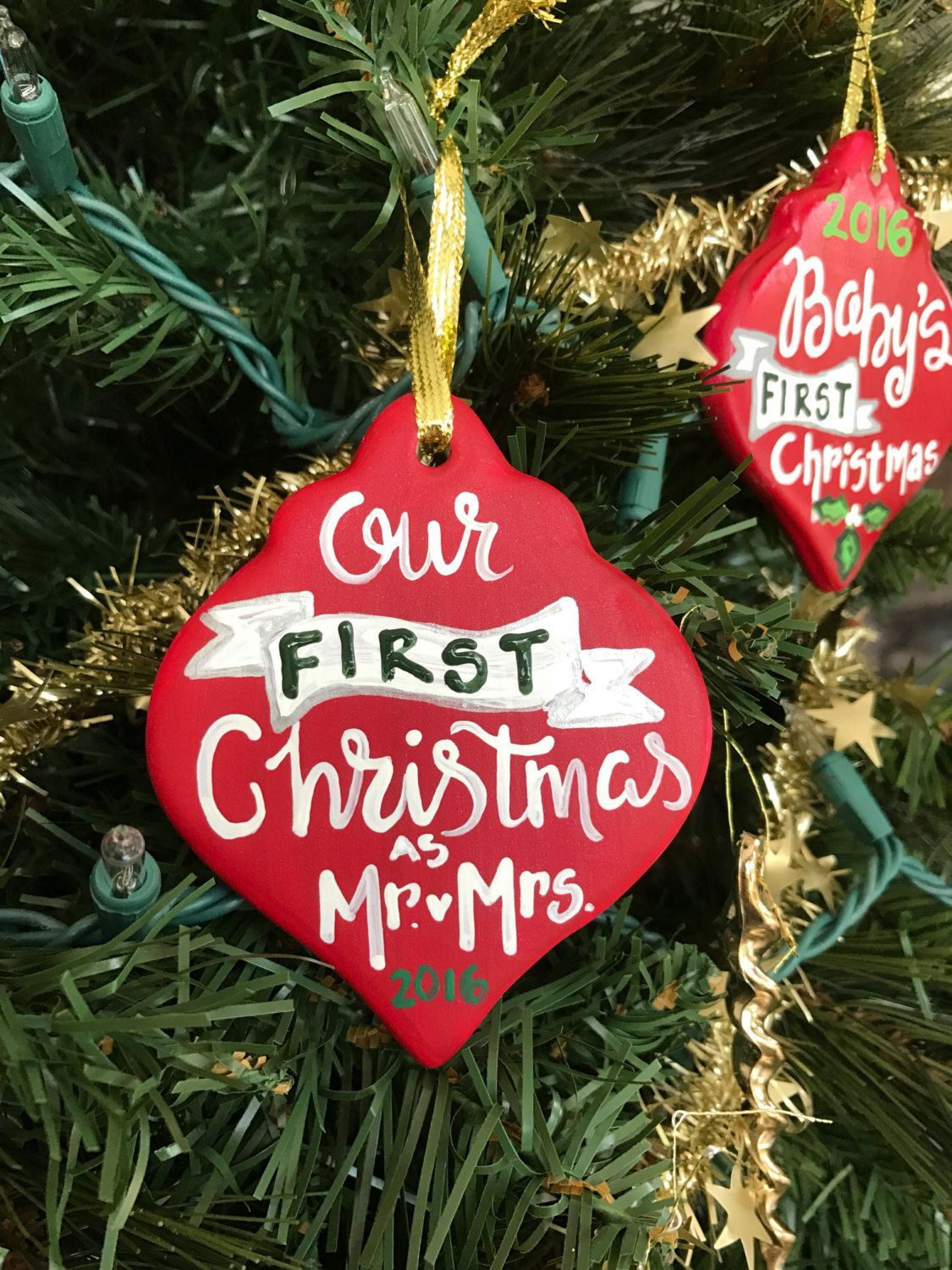 newlywed christmas ornament wedding ornament first christmas
