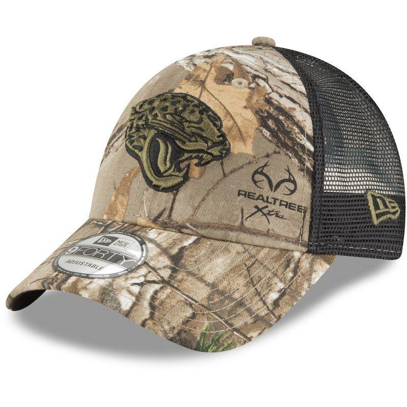 d18ef9f7f Jacksonville Jaguars New Era Team Trucker 9FORTY Adjustable Hat - Realtree  Camo/Black