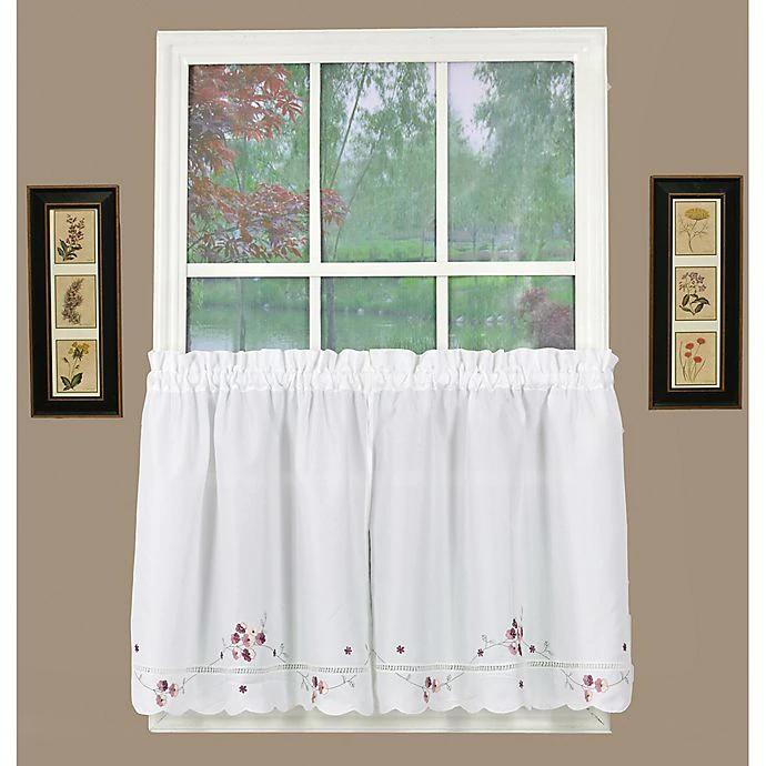 Today S Curtain Christine Kitchen Window Curtain Tier Pair Bed Bath Beyond In 2020 Curtains Kitchen Window Curtains Kitchen Window Blinds