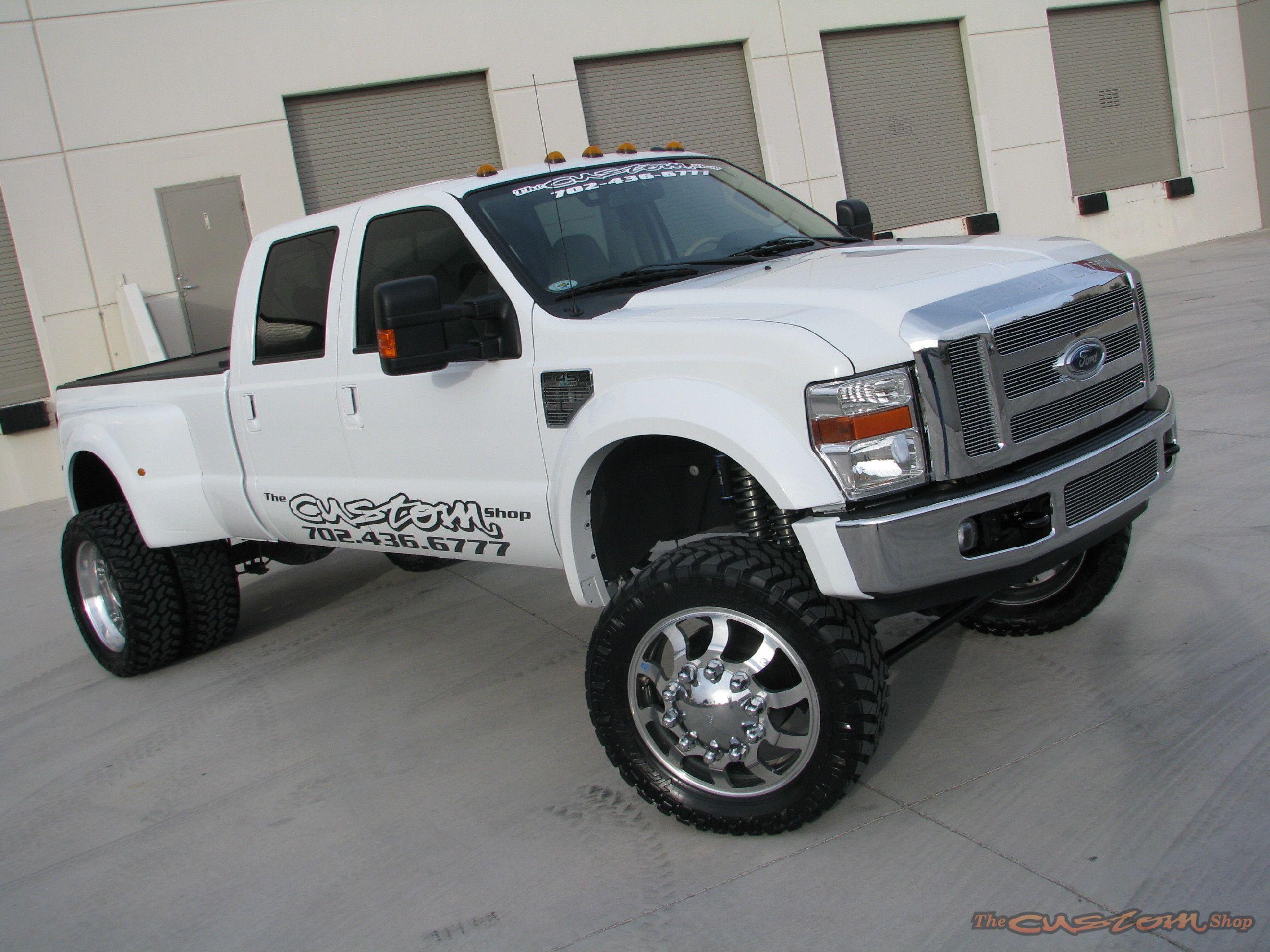 Ford Superduty White Ford Trucks Lifted Trucks Cool Trucks