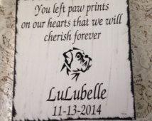 Pet memorial plaque dog or cat