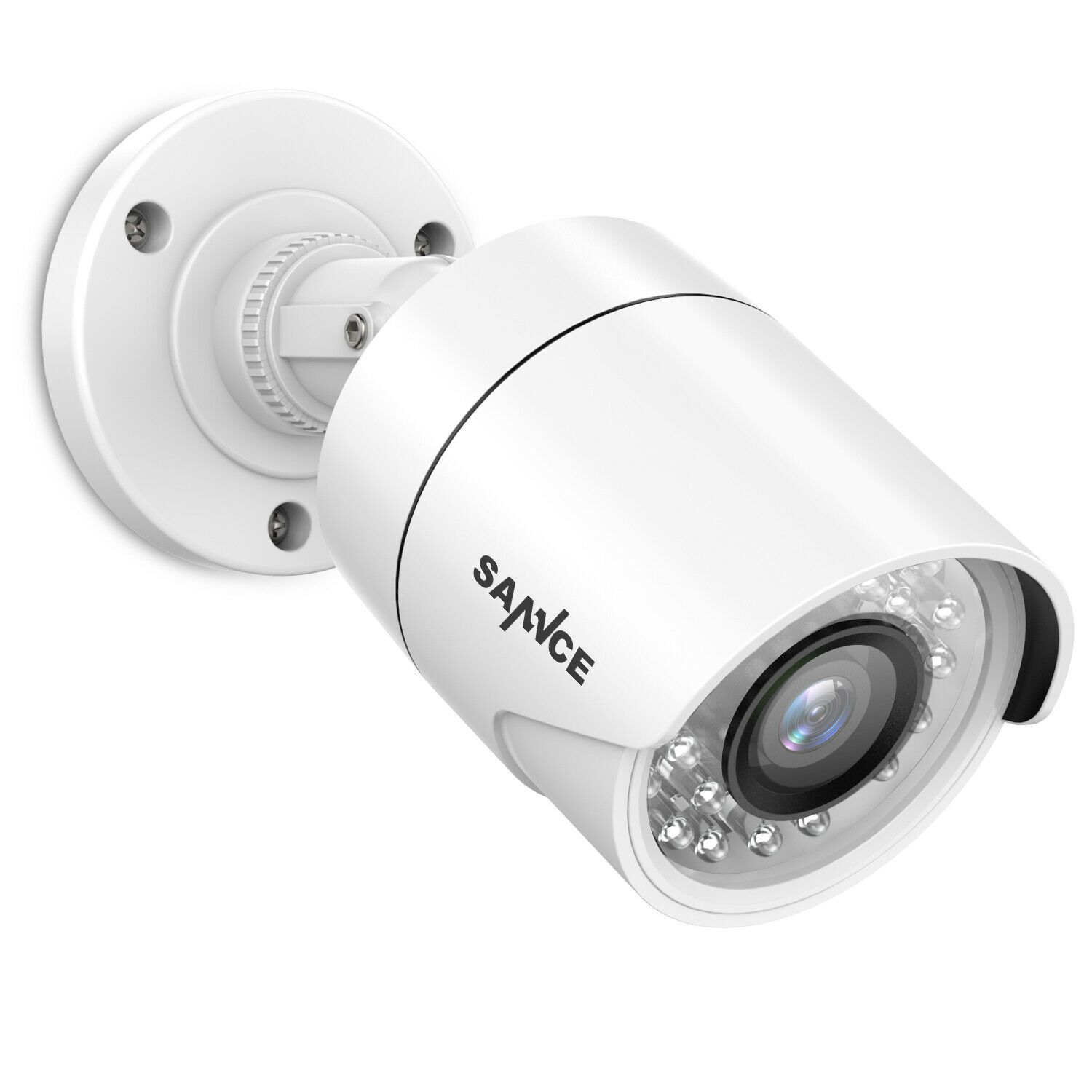 Sannce 720p Wired Weatherproof Hd Bullet Night Vision Cctv Video Security Cam Security Camera Ideas Wireless Home Security Systems Home Security Camera Systems