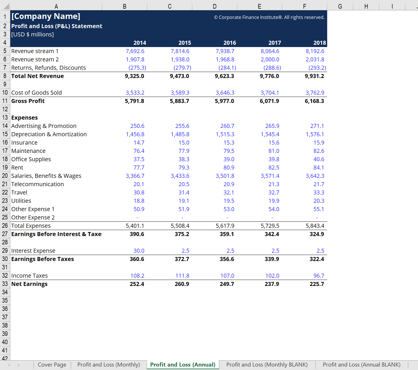 The Salary Statement Format In Excel Template Is A Very
