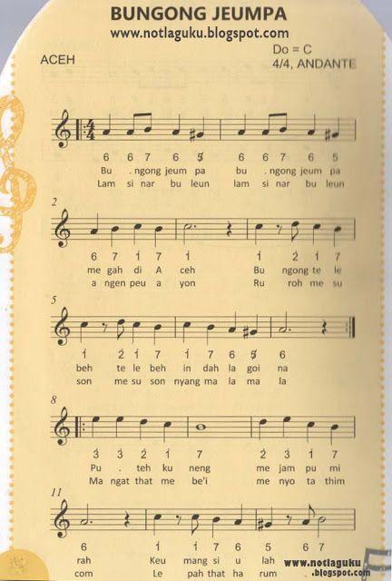 Download Lagu Bungong Jeumpa : download, bungong, jeumpa, Angka, Bungong, Jeumpa, Lagu,, Musik,, Musik