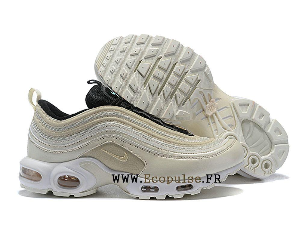 Officiel Nike Air Max 97 Plus TN Classique Coussin Dair Chaussures 2019 Pas  Cher Homme Blanc f3cf2d3930b