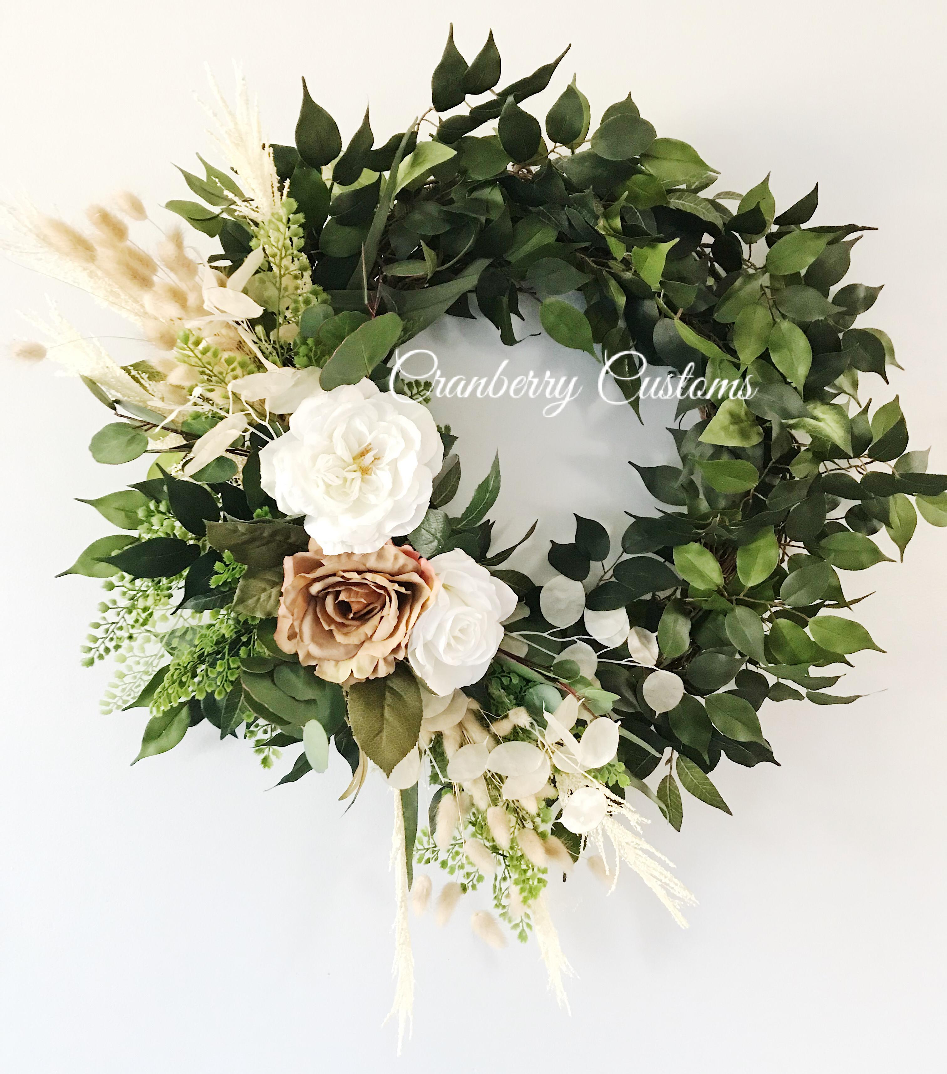 Photo of Wreath for the door. Front door wreath. Modern wreath. Year | Etsy