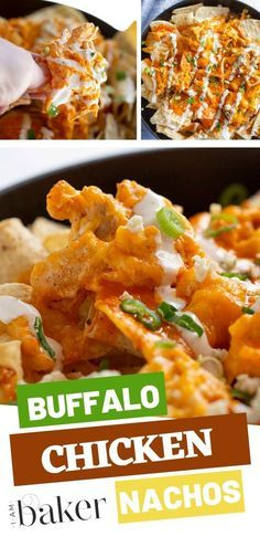 Cheesy Buffalo chicken nachos recipe is the perfect addition to your appetizer rotation! This buffalo chicken nachos are easy to make and will make your taste buds rejoice. Try this recipe on your next party! #buffalochickennachos