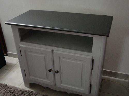 Table basse et meuble télé Relookés (Peinture Design Touch Salons
