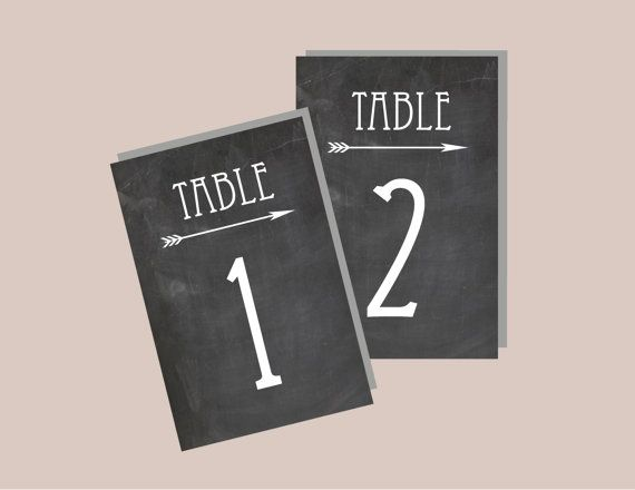 1-20 Instant Download - Chalkboard Rustic Table Numbers in WHITE - Modern Design DIY, Wedding reception (1-20), Classic Wedding