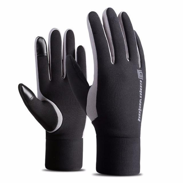 Winterwarme Touchscreen-Handschuhe für Outdoor-Sportarten – Schwarz / M