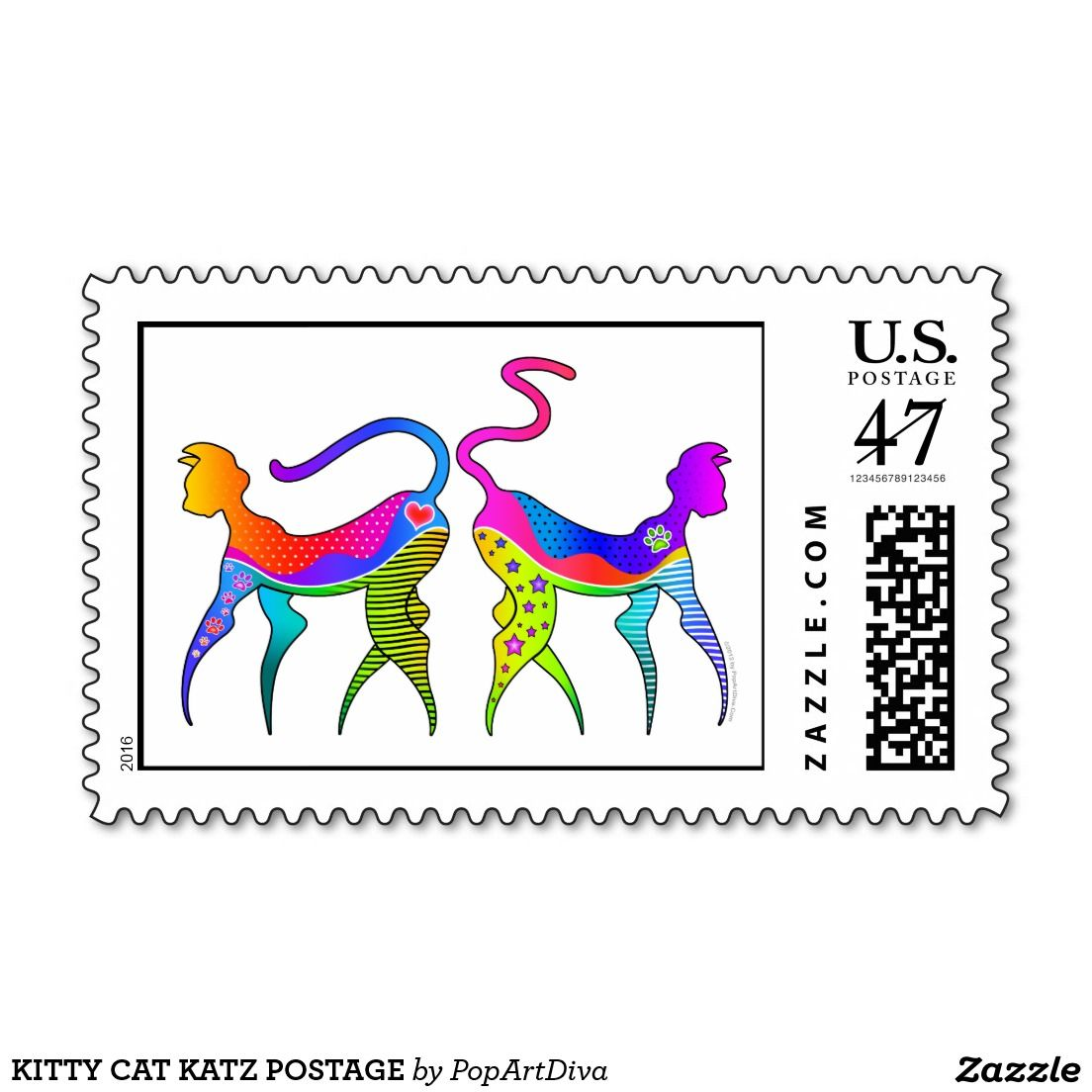 KITTY CAT KATZ POSTAGE