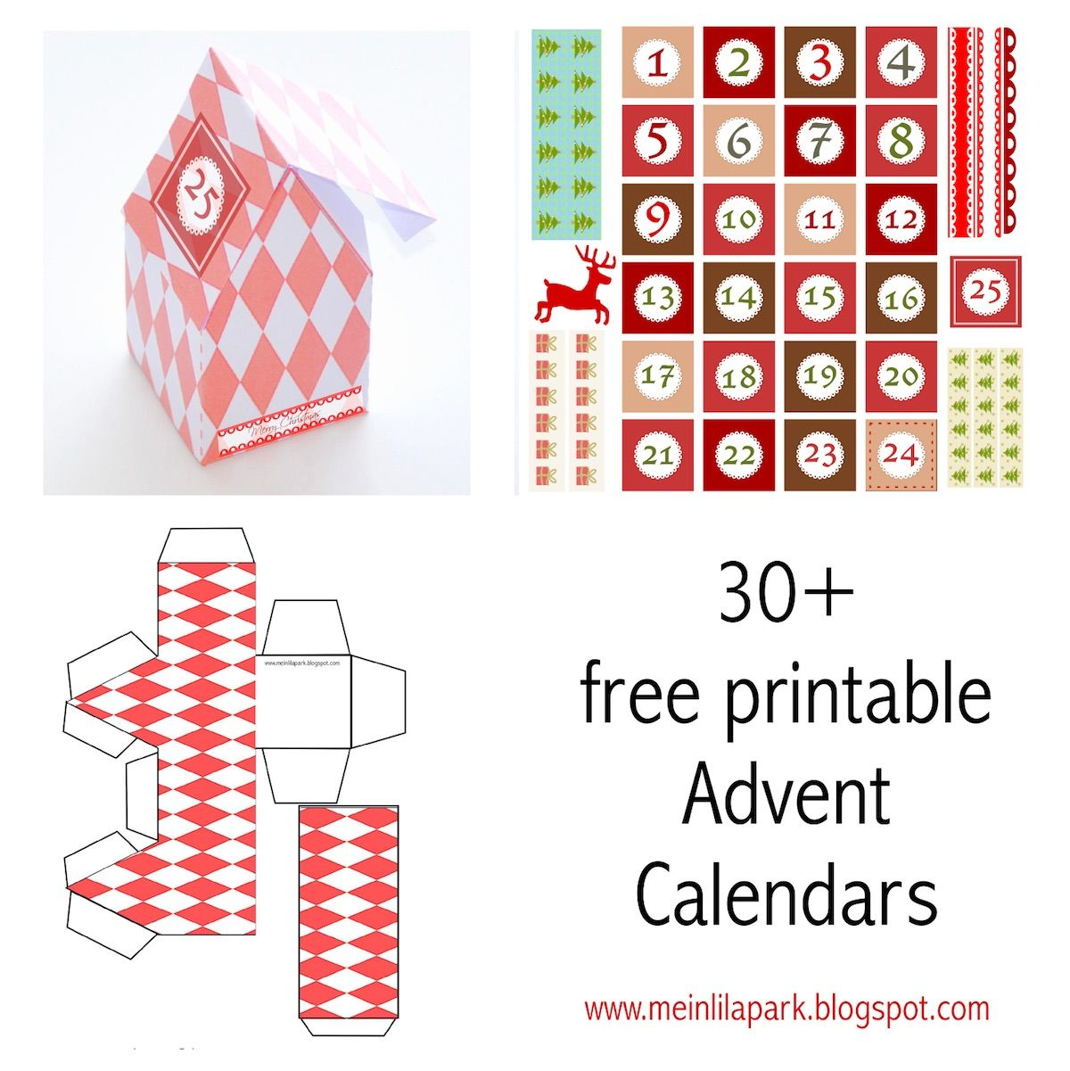 Adventskalender Downloads Ausdruckbare Diy Adventskalender
