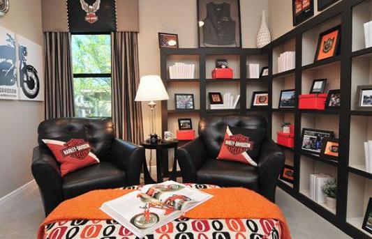 Photo of Harley Davidson Room vielseitiges Home Office # Freizeitraum # Büro # Freizeit …