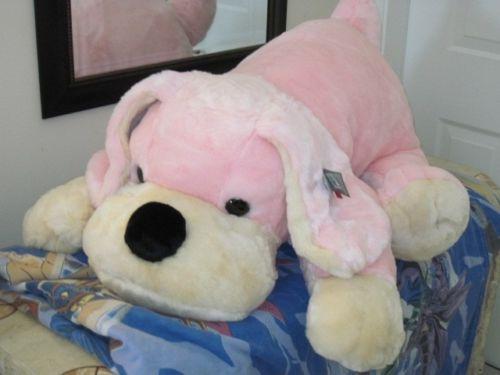 b0b643d476de FAO Schwarz Penelope The Pup Pink Plush Dog Large 35